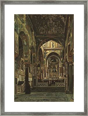 Cappella Palatina, Palermo  Framed Print by Frederic Leighton