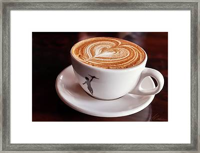 Framed Print featuring the photograph Cappuccino by Anthony Citro