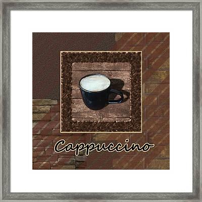 Cappuccino - Coffee Art Framed Print