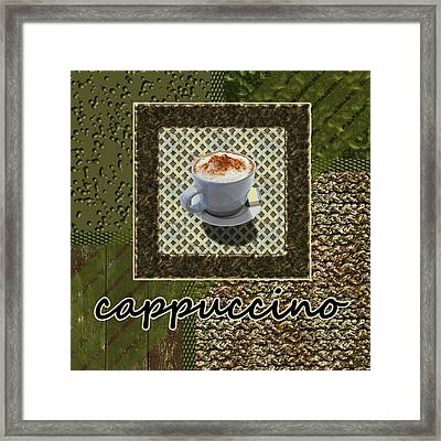 Cappuccino - Coffee Art - Green Framed Print by Anastasiya Malakhova