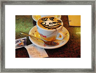 Cappuccino In Rome Framed Print by Srikanth Srinivasan