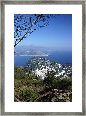 Capri At The Top Framed Print by Dennis Curry