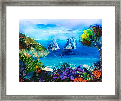 Capri Colors Framed Print by Elise Palmigiani