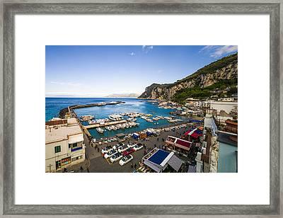 Capri Harbor Framed Print