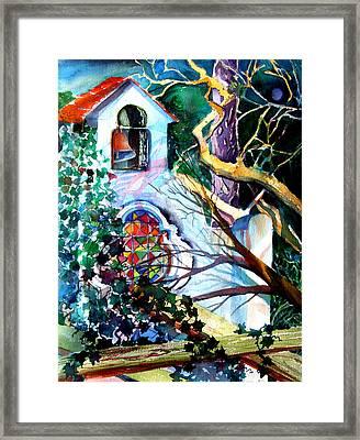 Capri Italy Chapel Framed Print by Mindy Newman