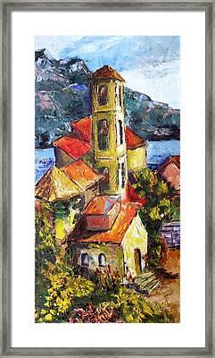 Capri Framed Print by Olga Kaczmar