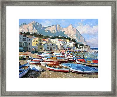 Capri Sunshine Framed Print