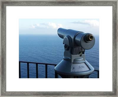 Capri View Framed Print by Adam Schwartz