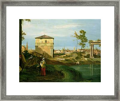 Capriccio With Motifs From Padua Framed Print