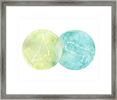Capricorn And Gemini Framed Print by Stephie Jones