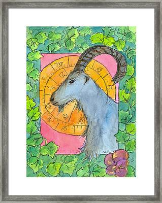 Framed Print featuring the painting Capricorn by Cathie Richardson