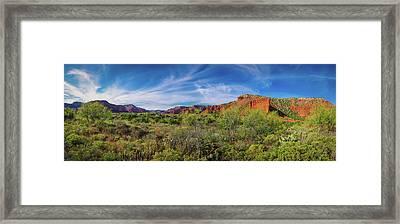 Caprock Canyon Panorama 2 Framed Print