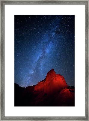Caprock Canyons October Sky Framed Print by Stephen Stookey
