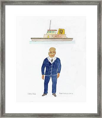 Capt. Don Framed Print by Fred Jinkins