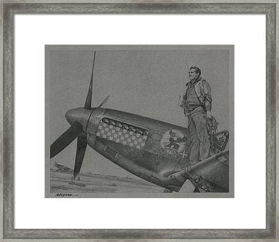 Capt Don S Gentile 1944 Framed Print by Wade Meyers
