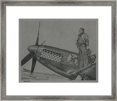 Capt Don S Gentile 1944 Framed Print
