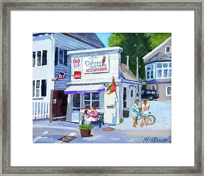 Capt. Dusty's Ice Cream Framed Print by Michael McDougall