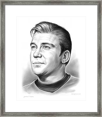 Capt. James T. Kirk Framed Print by Greg Joens