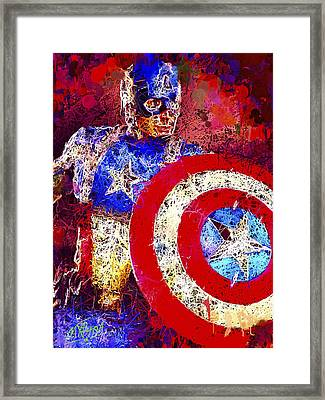 Captain America Framed Print