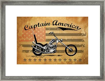 Captain America Framed Print by Mark Rogan