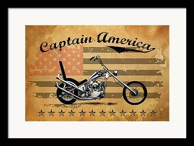 Captain America Photographs Framed Prints