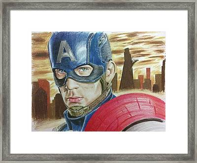 Captain America Framed Print by Michael McKenzie