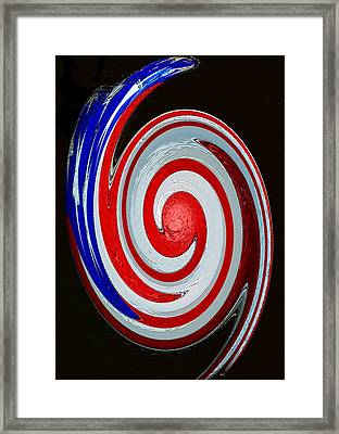 Captain America Original Work Framed Print by David Lee Thompson