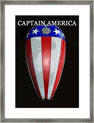 Captain America Original Work One Framed Print