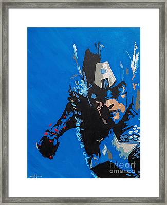 Captain America - Out Of The Blue  Framed Print
