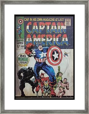 Captain America  Framed Print by Rob Hans
