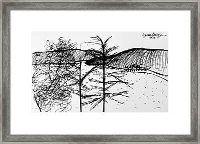 Captain Cooks Point Framed Print