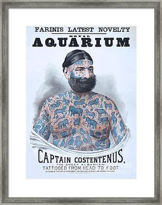 Captain Costentenus Tattoed From Head To Foot Framed Print