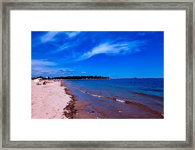 Captain Cove Framed Print by L O C