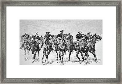 Captain Dodge's Troopers To The Rescue Framed Print by Frederic Remington