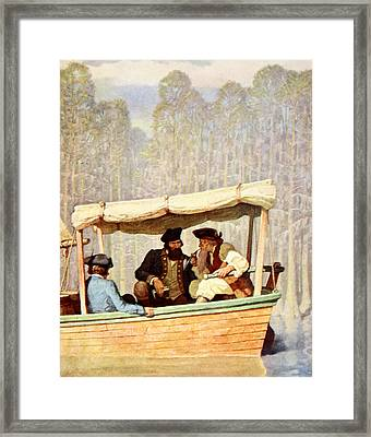 Captain Flood At A Meeting In A Cutter Framed Print by Newell Convers Wyeth