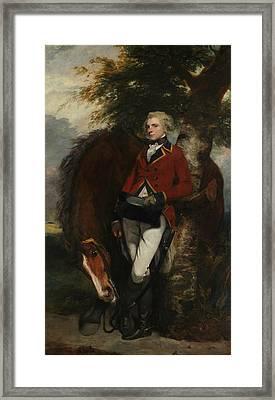Captain George K. H. Coussmaker  Framed Print by Joshua Reynolds