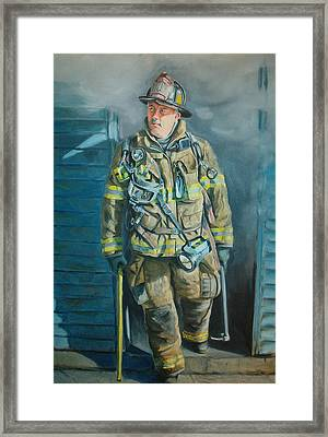 Captain Harris Framed Print by Paul Walsh