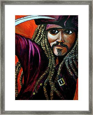 Captain Jack Sparrow Framed Print by Bob Crawford