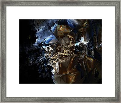 Framed Print featuring the digital art Captain Jack by Vadim Epstein