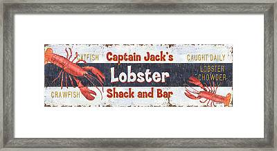 Captain Jack's Lobster Shack Framed Print by Debbie DeWitt