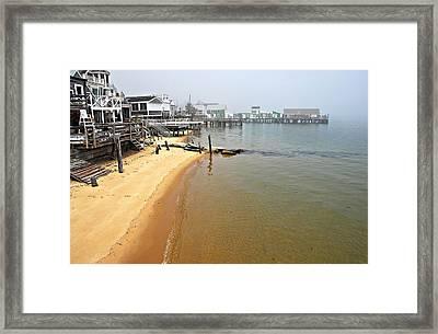 Captain Jacks Wharf Provincetown Ma Framed Print by AnnaJanessa PhotoArt