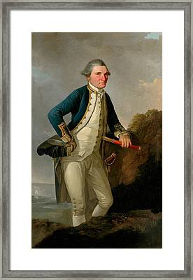 Captain James Cook Portrait  Framed Print by War Is Hell Store