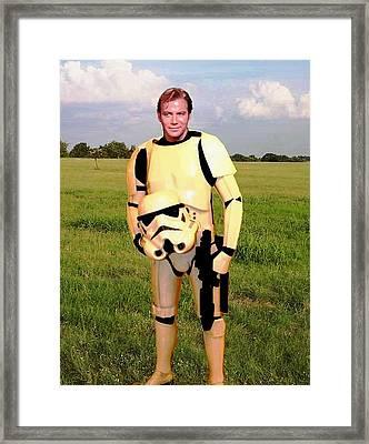 Captain James T Kirk Stormtrooper Framed Print by Paul Van Scott