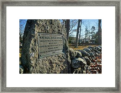 Captain John Locke Monument  Framed Print
