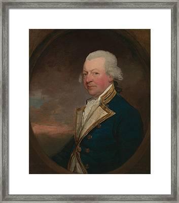 Captain John Macbride Framed Print by Gilbert Stuart