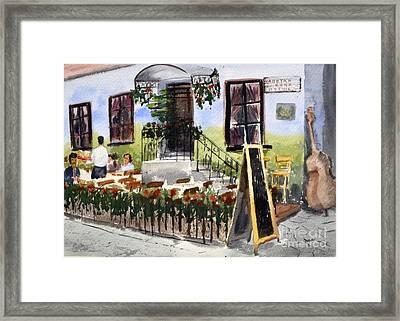Captain Kocha Original Watercolor Landscape Painting By Nenad Kojic Framed Print