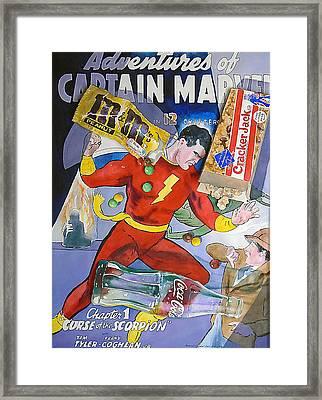 Captain Marvel Framed Print by Patrick Clark