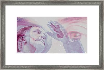 Captain Mask In The Flux Framed Print by Starscalp Gentile