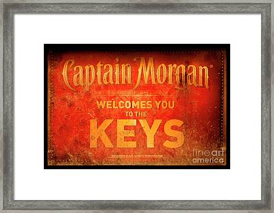 Captain Morgan Welcome To The Keys Framed Print