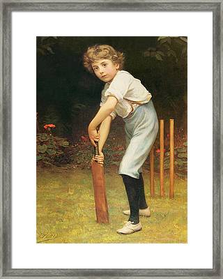 Captain Of The Eleven Framed Print by Philip Hermogenes Calderon